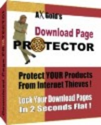 Product picture download page protect