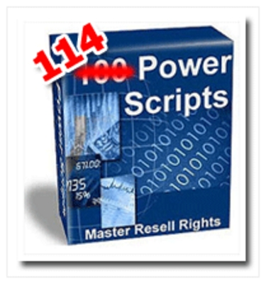Product picture *NEW* 114 Super Powerful Scripts - with Master Resell Rights+BONUS