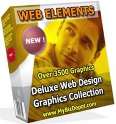 Product picture Web Elements Deluxe Web Design Graphics Collection