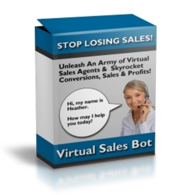 Product picture NEW! virtual sales bot with master resale rights